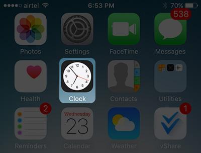 ios-clock app