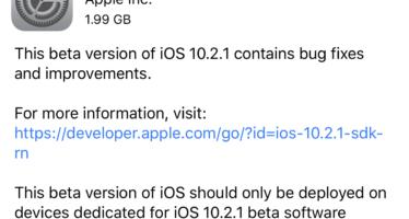 Elérhető az iOS 10.2.1 nyilvános 4. bétája is c9b33cdd20